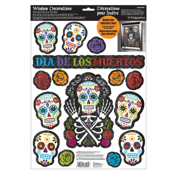 Day Of The Dead Window Decorations
